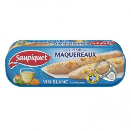Filets de maquereaux vin blanc aromates 176g SAUPIQUET
